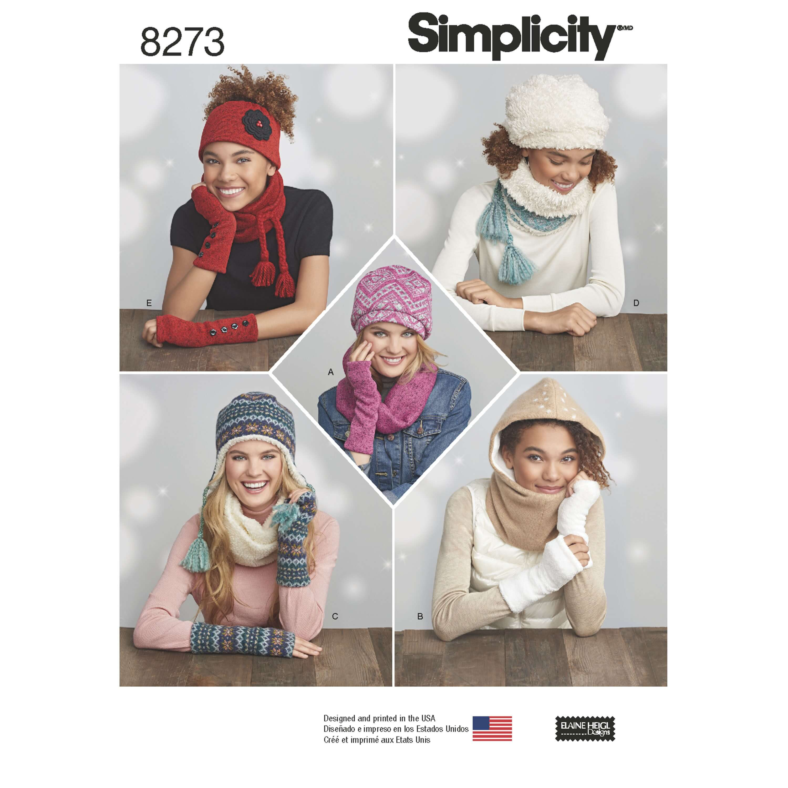 Simplicity Sewing Pattern 8273 Women's Cold Weather Knit Accessories