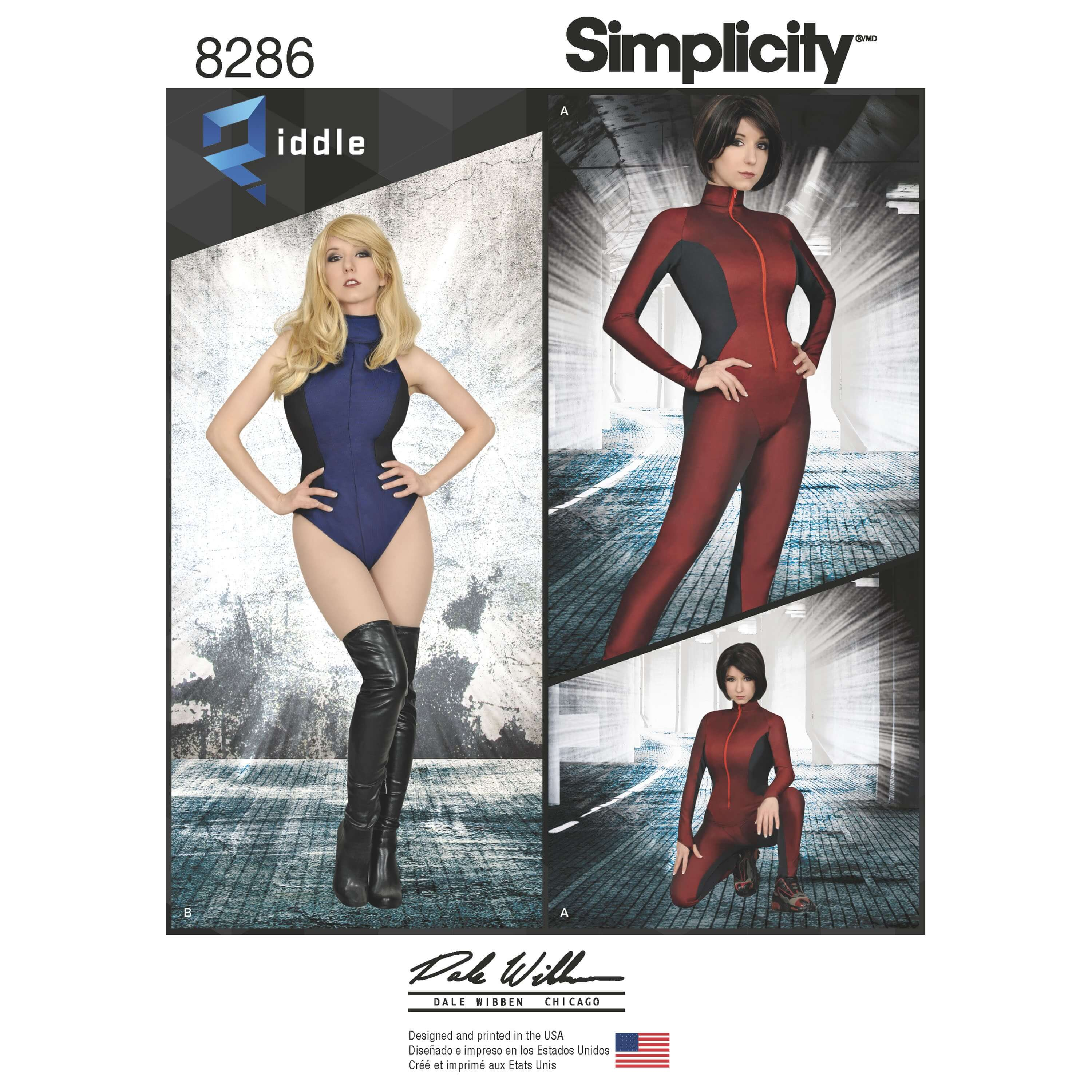 Simplicity Sewing Pattern 8286 Women's Body Suit Catsuit Cosplay Costume