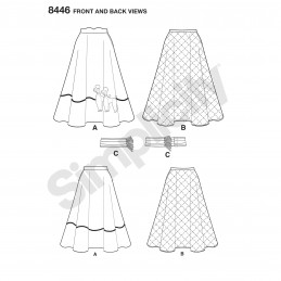 Simplicity Sewing Pattern 8446 Women's Vintage 50s Circle Skirt with Applique