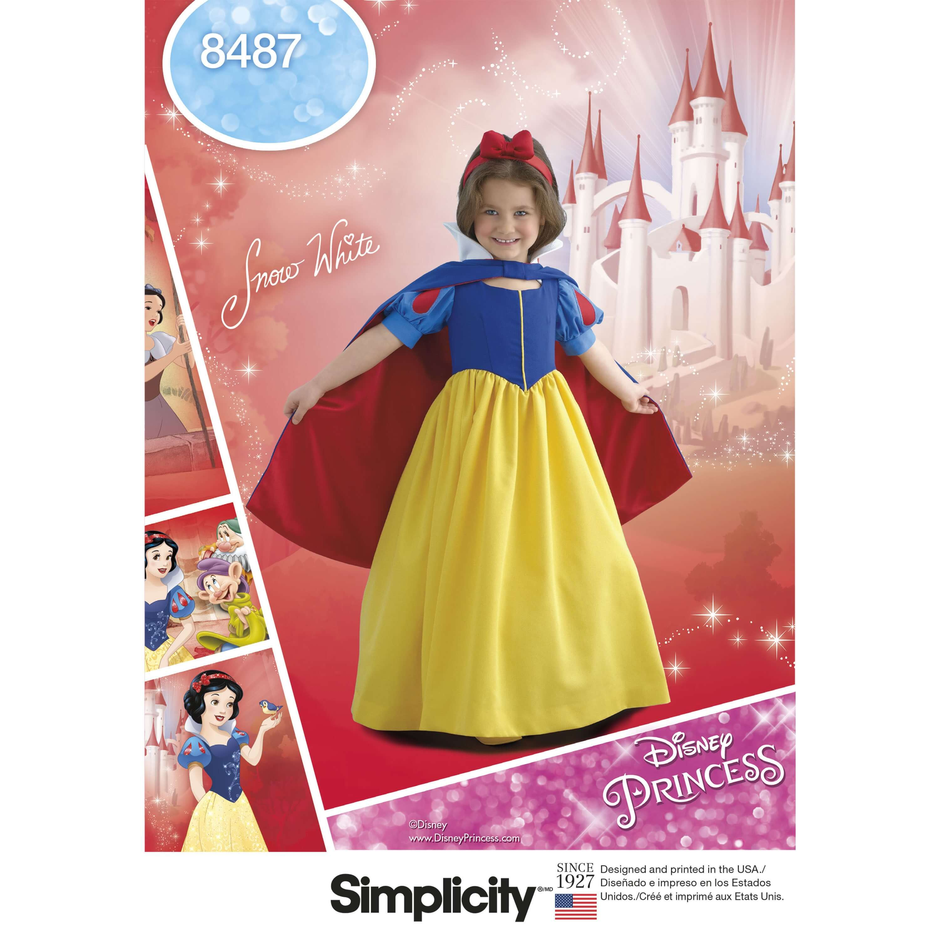 Simplicity Sewing Pattern 8447 Child and Girls Snow White Costume Cosplay