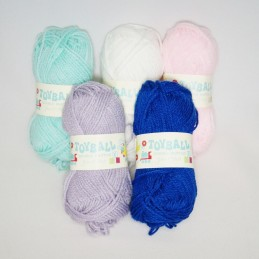 James C Brett Toyball Assorted DK Double Knitting Yarn Crochet Craft 25g Ball