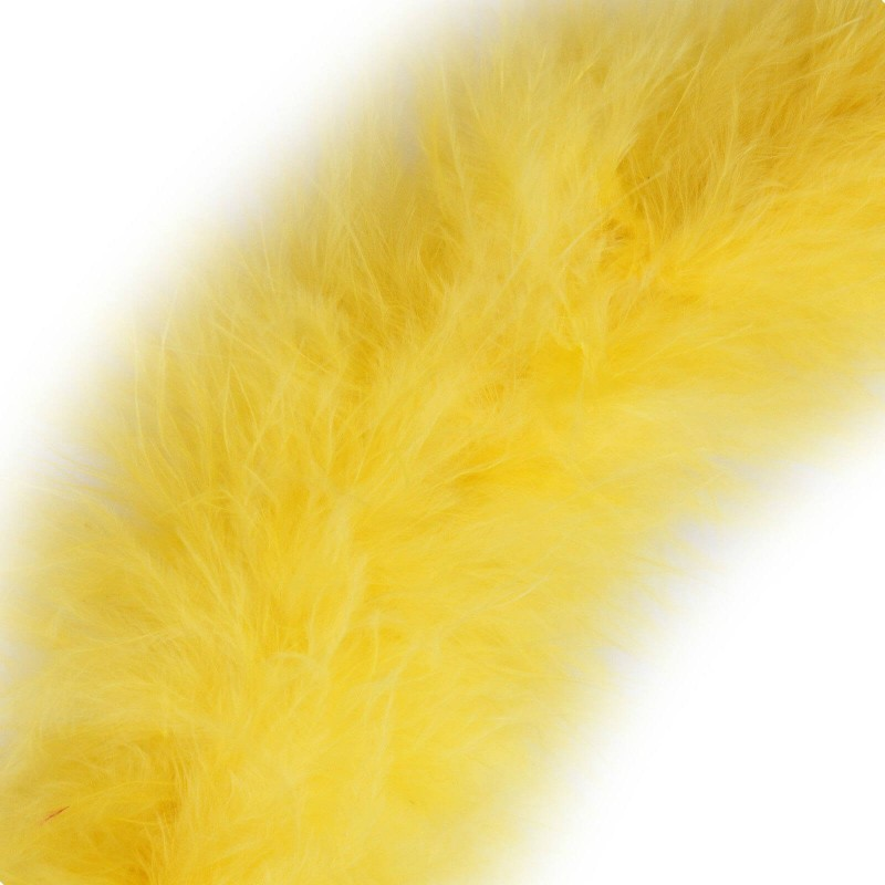 Yellow 4mm Marabou Feather Trim Dress Costumes Gifts Craft Decoration Trimits