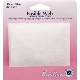Hemline Fusible Web 58 x 51cm Applique Hemming Facings