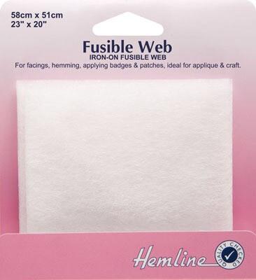 Hemline Fusible Web: 58 x 50cm