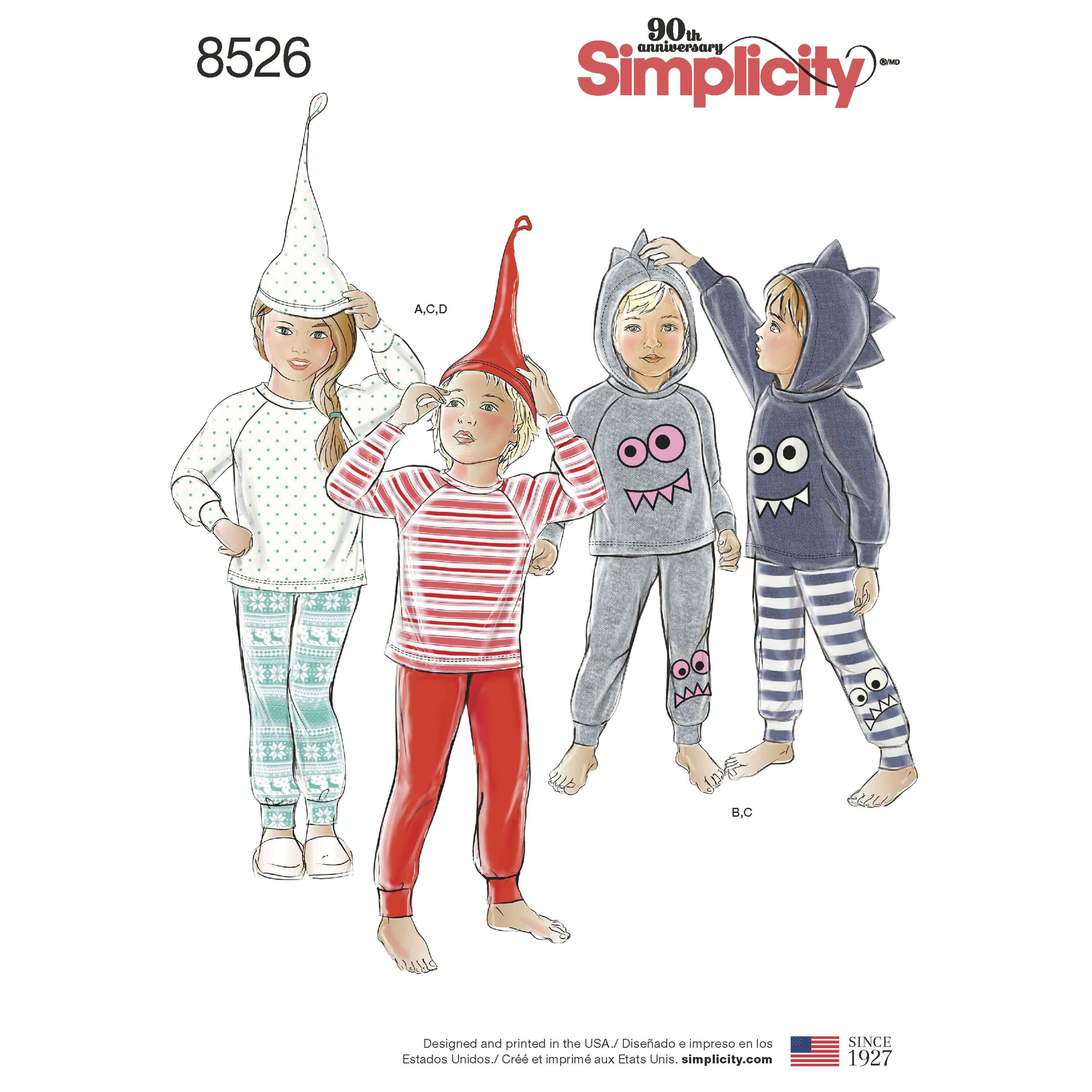 Simplicity Sewing Pattern 8526 Toddler and Child Knit Separates
