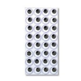Self Adhesive Wobbly Eyes 15mm - 32 per sheet