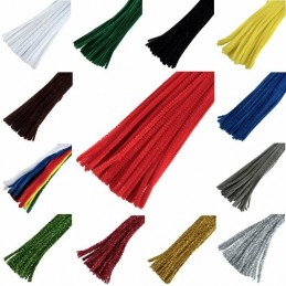 """1 x Chenille Craft Stems Pipe Cleaners 30cm 12"""" Long 6mm Wide"""