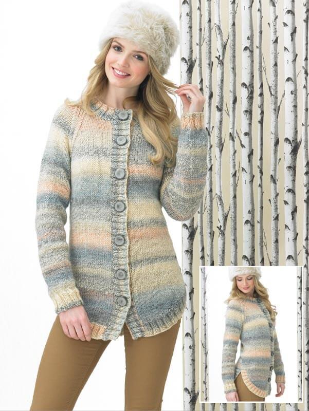 Knitting Pattern James C Brett JB287 Chunky Cardigan Coat