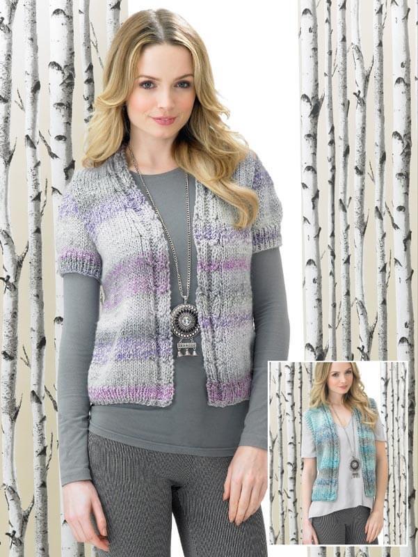 Knitting Pattern James C Brett JB290 Chunky Blouse Cardigan