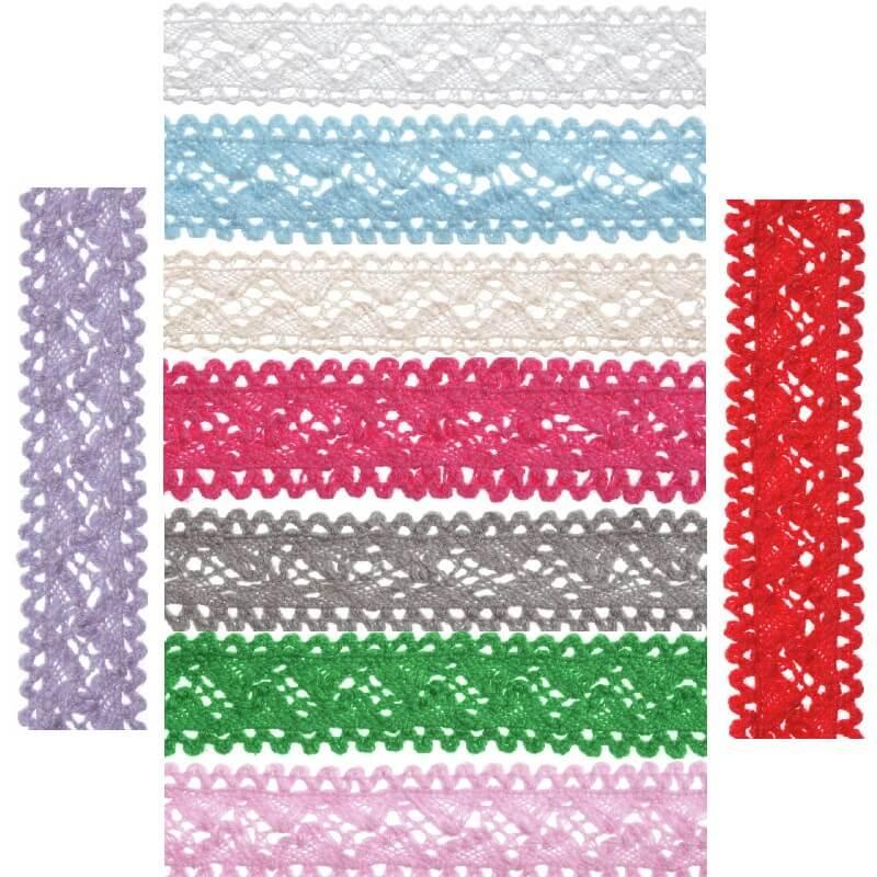 Bowtique Vintage Lace Trim Ribbon 18mm x 5m Reel