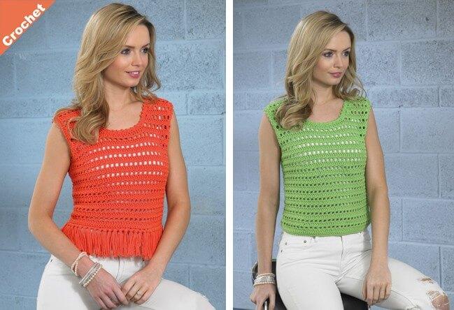 Crochet Pattern James C Brett JB359 Chunky Eyelet Rib Vest