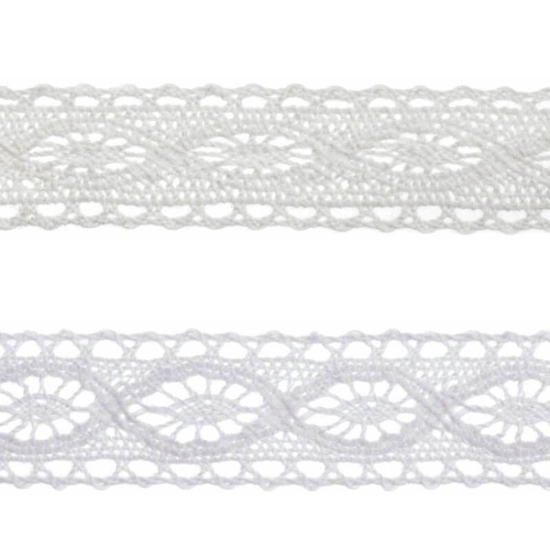 Cream Bowtique Vintage Detailed Lace Trim Ribbon 20mm x 5m Reel