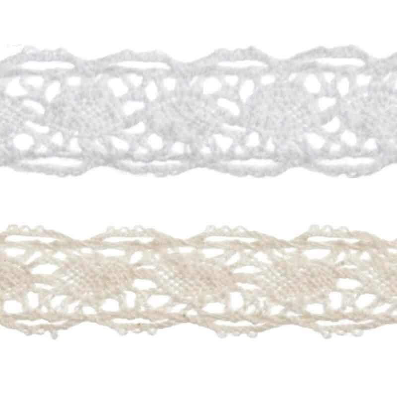 10m x 50mm Vintage Cotton Crochet Lace Edge Trim Ribbon Dress Sewing Craft