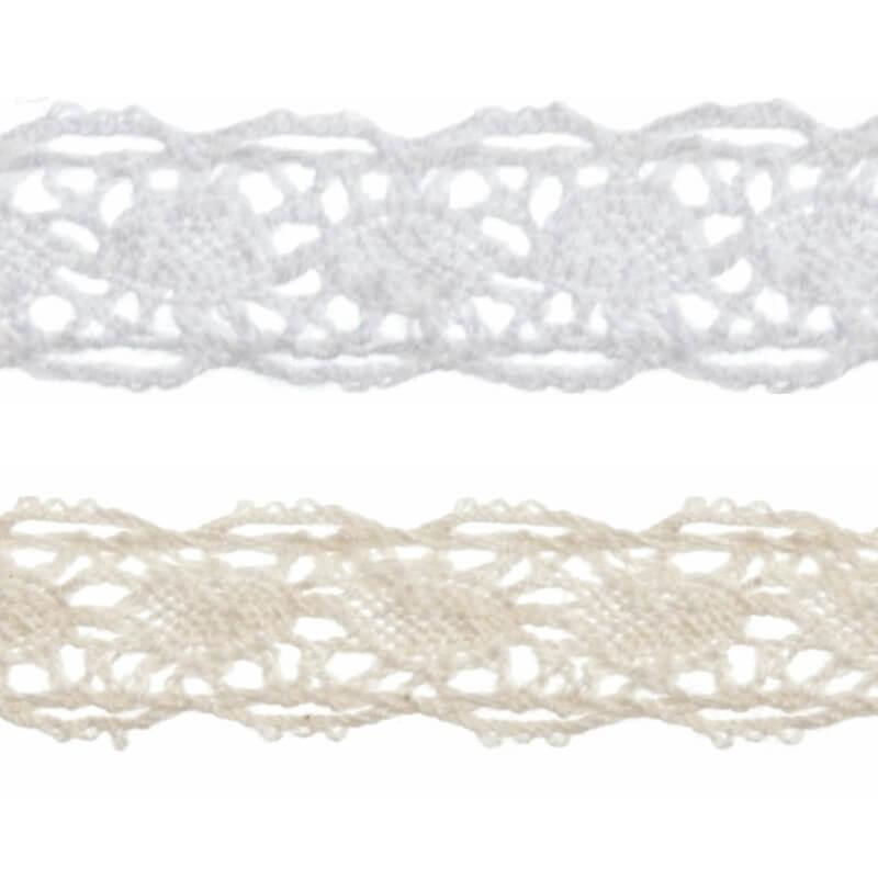 Bowtique Vintage Detailed Lace Trim Ribbon 10mm x 5m Reel