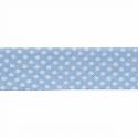 Light Blue 20mm Polka Dots Cotton Bias Binding