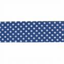 Navy 20mm Polka Dots Cotton Bias Binding