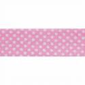 Pink 20mm Polka Dots Cotton Bias Binding