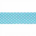 Turquoise 20mm Polka Dots Cotton Bias Binding