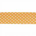Yellow 20mm Polka Dots Cotton Bias Binding