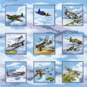 100% Cotton Fabric Nutex Warbirds World War II Planes Spitfire Airplanes