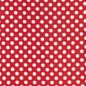Spot Red 100% Cotton Fabric Nutex Poppies Poppy Floral Flowers Collection