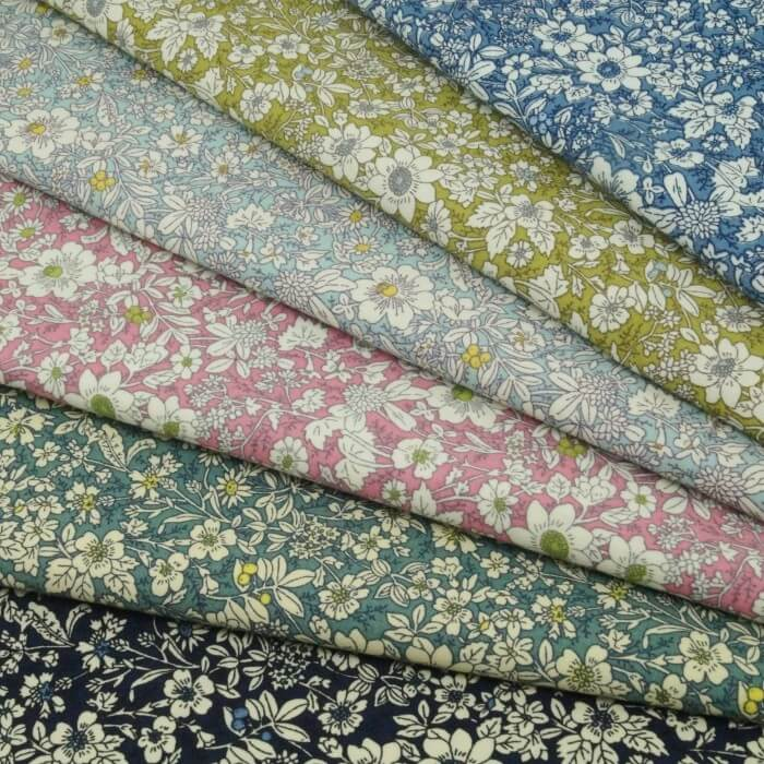 Dresden 100% Cotton Poplin Fabric Rose & Hubble Floral Ditsy Petal Flowers