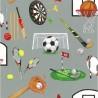 100% Cotton Fabric Nutex Sports Day Football Hockey Cricket Darts Golf