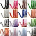12mm Fany Lace Edge Polka Dots Double Fold Bias Binding Trim Picot Crochet