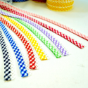 Fany 12mm Lace Edge Gingham Check Double Fold Bias Binding