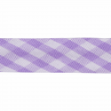 Lilac 15mm Gingham Bias Binding Tape