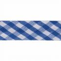 Blue 15mm Gingham Bias Binding Tape