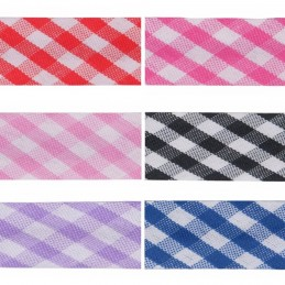15mm Gingham Bias Binding Tape