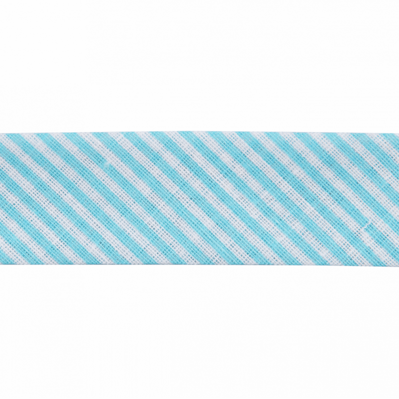 Turquoise  Stripes Cotton Bias Binding