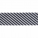 Black 20mm Stripes Cotton Bias Binding Tape