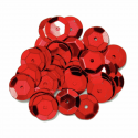 Red 10mm Cup Sequins 6 Colours