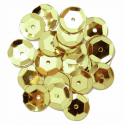 Gold 10mm Cup Sequins 6 Colours
