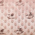 Pink Patterned Super Soft Dimple Fleece Fabric Rocking Horse