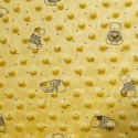 Ochre Patterned Super Soft Dimple Fleece Fabric Bear In Jumper