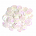 White Tiny 10mm Shiny Craft Cup Sequins Trimits