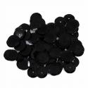 Black Tiny 10mm Shiny Craft Cup Sequins Trimits