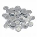 Silver Tiny 10mm Shiny Craft Cup Sequins Trimits