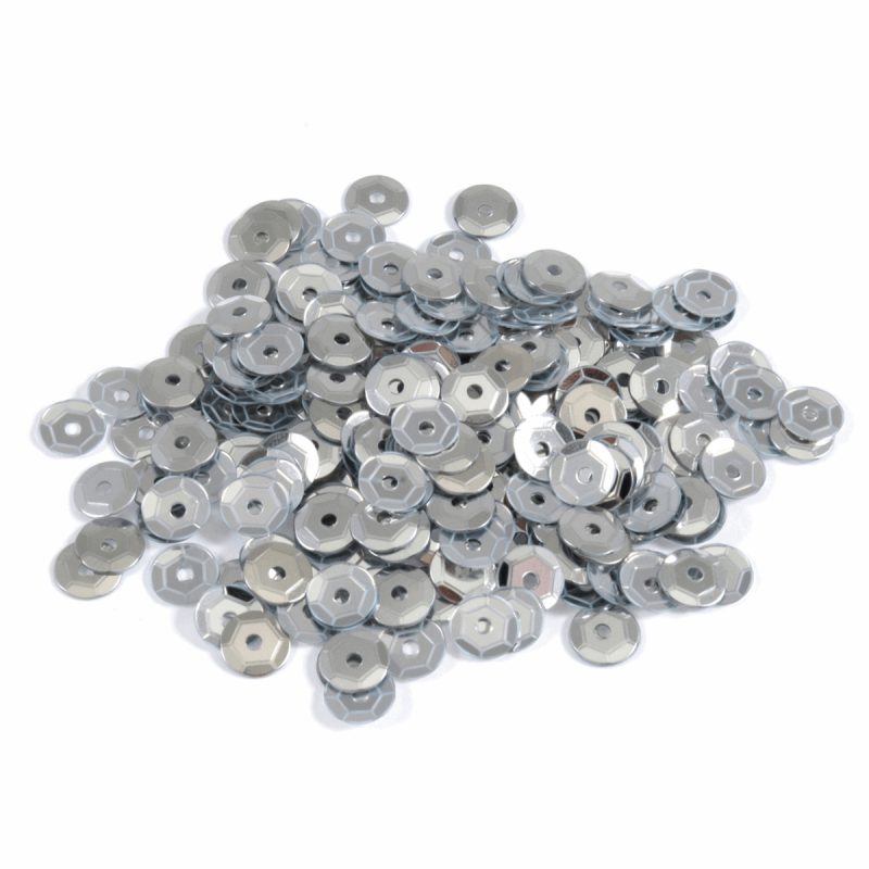 Silver Extra Value Tiny 5mm Shiny Craft Cup Sequins Trimits