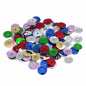Multi Extra Value Tiny 8mm Shiny Craft Cup Sequins Trimits