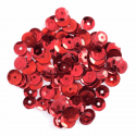 Red Extra Value Tiny 8mm Shiny Craft Cup Sequins Trimits