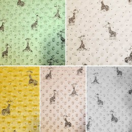 Patterned Super Soft Dimple Fleece Fabric Craft Material Blanket Giraffes