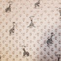 Rose Patterned Super Soft Dimple Fleece Fabric Giraffes