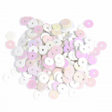 White Extra Value Tiny 10mm Shiny Craft Cup Sequins Trimits