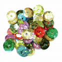 Multi Hologram Cup Sequins 10mm Gold, Silver or Multi