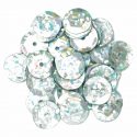 Silver Hologram Cup Sequins 10mm Gold, Silver or Multi