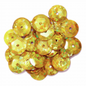 Gold Hologram Cup Sequins 10mm Gold, Silver or Multi